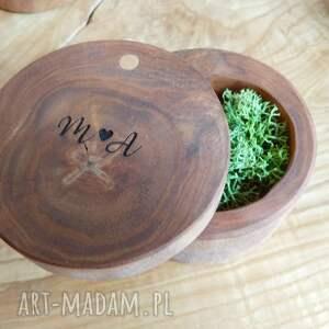 wyjątkowe ślub pudełko drewniane na obrączki