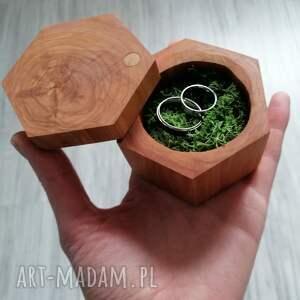 unikalne ślub rustykalne drewniane pudełko na obrączki