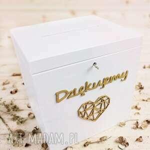 białe ślub obrączki duży zestaw ślubny - pudełko na