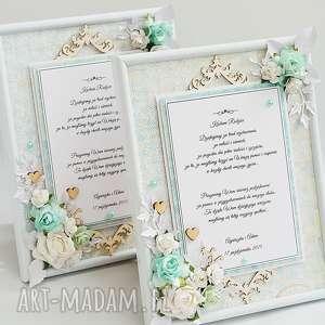 ślub Dwie Ramki Podziękowania Dla Rodziców Na Zamówienie