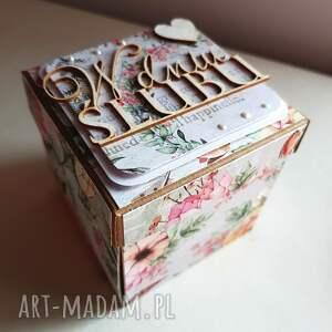 ślub exploding box box ślubny z tortem
