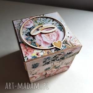 exploding box ślub różowe box ślubny
