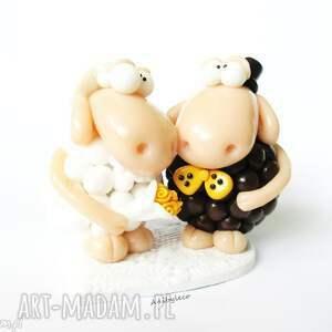 ślub: figurka na tort ślubny owieczki - owce