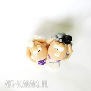 frapujące ślub figurka na tort ślubny zakochane