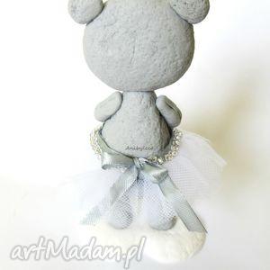 modne ślub miś figurka na tort panna młoda