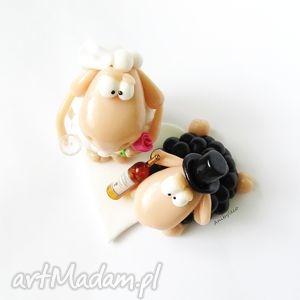 figurka ślub białe na tort ślubny dwie owce