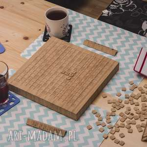 handmade ślub gra logiczna - słowna z drewna