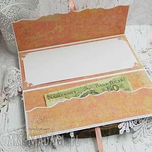 różowe ślub prezent ślubny kartka na opakowanie