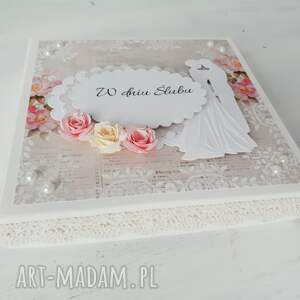ślub kartka w pudełku