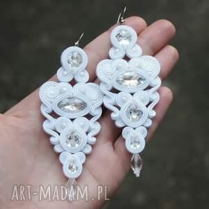 wyjątkowe ślub sutasz kolczyki ślubne cerine crystal