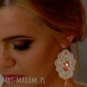 intrygujące ślub sutasz kolczyki ślubne soutache serene
