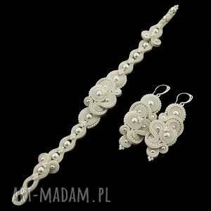 ślub kolczyki komplet ślubne mirino pearl