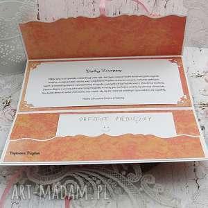 różowe ślub kartka ślubna komplet ślubny- opakowanie drewniane na wino
