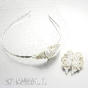 białe ślub opaska komplet ślubny lispiro wedding