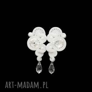 ślub: komplet ślubny lady crystal soutache - biel sutasz