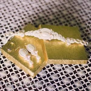 unikatowe ślub sutasz komplet ślubny candy gold soutache