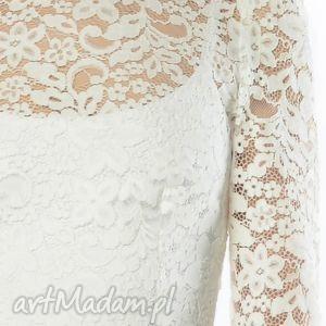 wieczorowa ślub koronkowa suknia ślubna