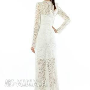 ślub wieczorowa koronkowa suknia ślubna