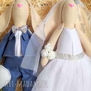ślub ślubu króliki tilda para pamiątka
