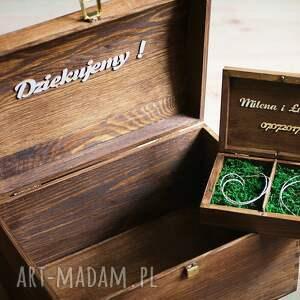 ślub pudełko duża skrzynia na koperty ślubne