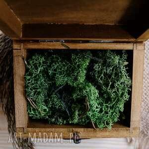 drewniane pudełko ślub kuferek na obrączki