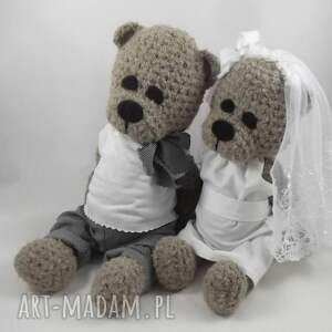 unikatowe ślub para-młoda misiowa para młoda