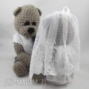 beżowe ślub ślubne-misie misiowa para młoda