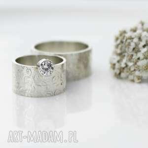 niepowtarzalne ślub obrączki ze srebra masywne