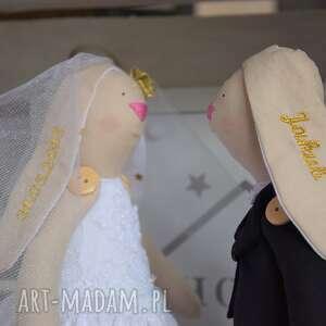 ślubu ślub para króliczki tilda pamiątka