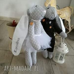 białe ślub piekny upominek dla mlodej pary; ) wyszywam