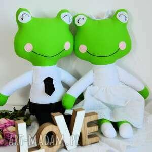 białe ślub para ślubna - żabki