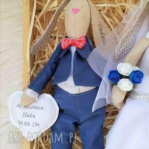 ślub króliki para ślubna, lalki