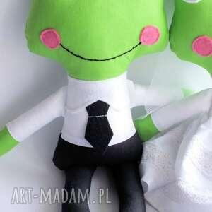 białe ślub para ślubna - żabka mniejsza