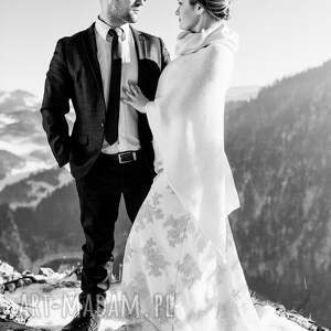 handmade ślub wełna poncho z wełny merino i kaszmiru