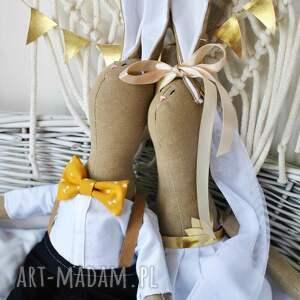 prezent ślub żółte jesteśmy szmaciankową parą młodą