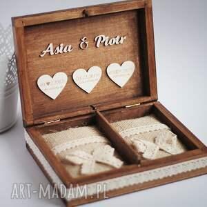 unikatowe ślub obrączki pudełko na
