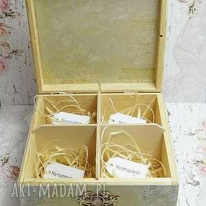 różowe ślub pudełko ślubne - niezbędnik