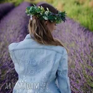 fioletowe ślub romatyczna romanrtczna spinka ślubna do włosów