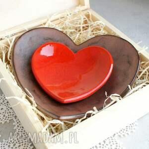 brązowe ślub miseczka romantyczne pudełko