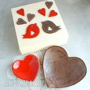 pudełko ślub czerwone romantyczne