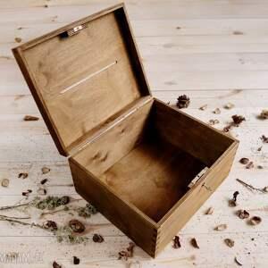 wyraziste ślub rustykalne pudełko na koperty