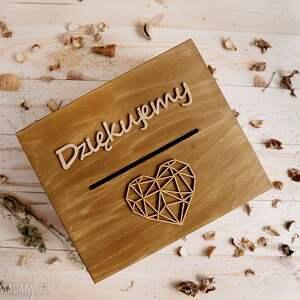 brązowe ślub rustykalne pudełko na koperty