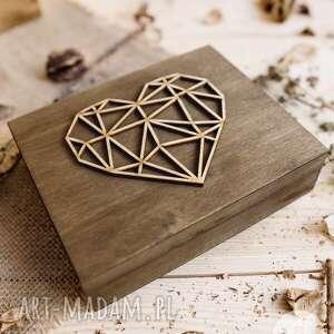 ślub rustykalne pudełko na obrączki