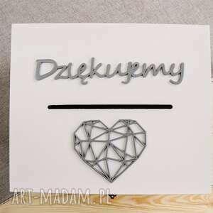 pudełko ślub białe rustykalne na koperty
