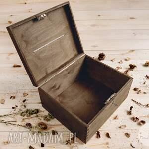 ślub pudełko na koperty rustykalne na