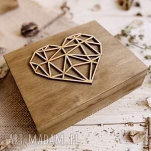 beżowe ślub rustykalne rustykalny zestaw ślubny - pudełko