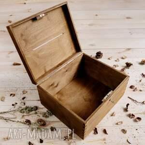 ślub pudełko rustykalny zestaw ślubny składający się z