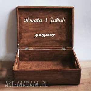 frapujące ślub drewno skrzynia na koperty ślubne lub