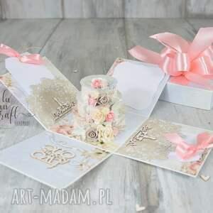 box ślub niebieskie ślubny exploding - pudełko