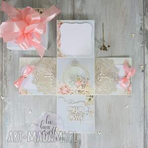 eleganckie ślub ślubna ślubny exploding box - pudełko
